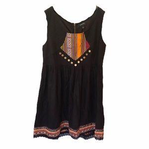 MINKPINK boho dress w/ bead & sequin detail